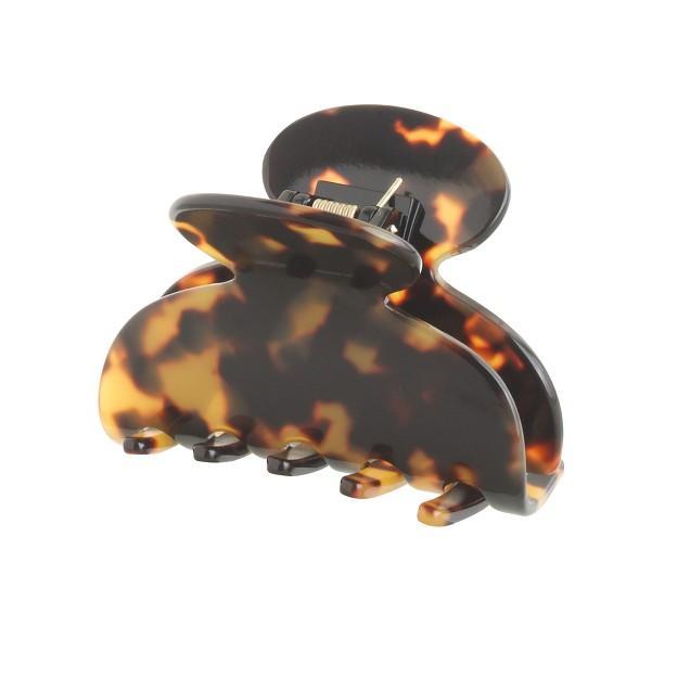 Rounded hair clip in Italian tortoise
