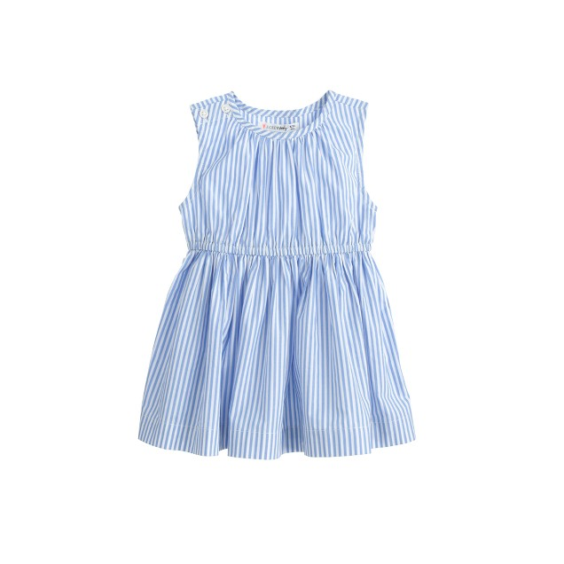 Baby dress in blue and white stripe