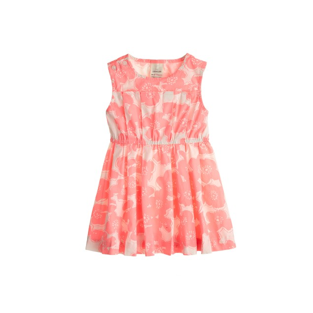 Baby dress in pink floral