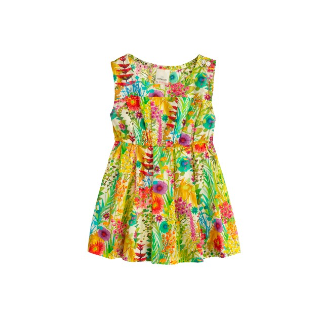 Baby dress in Liberty tresco floral
