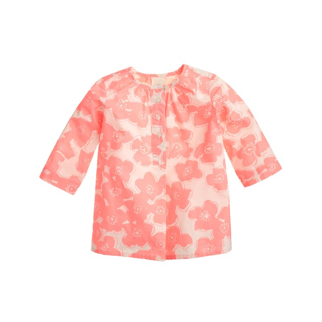 Baby tunic in pink floral