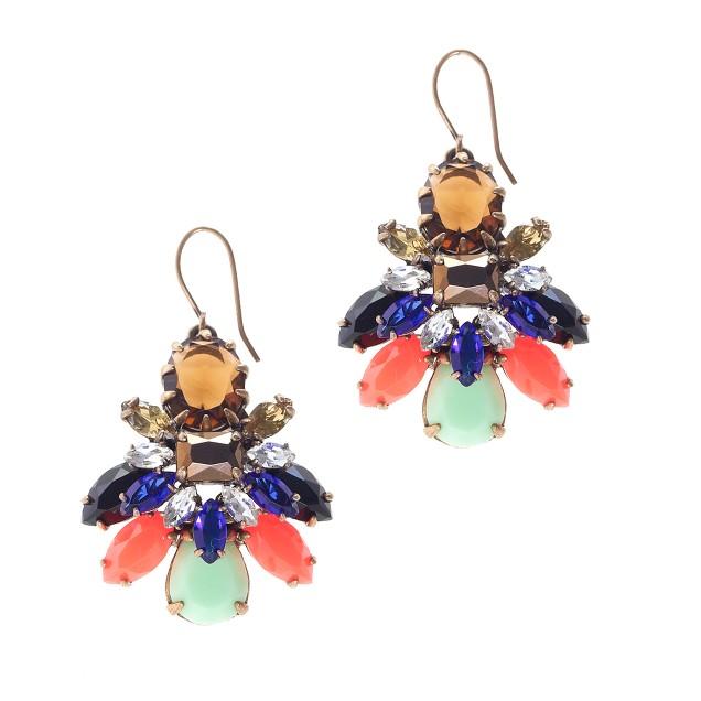 Stone burst earrings