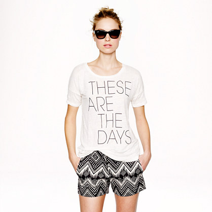 Linen these are the days T-shirt