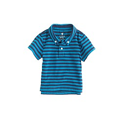 Baby jersey polo shirt in stripe