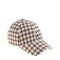 Houndstooth baseball cap in beige