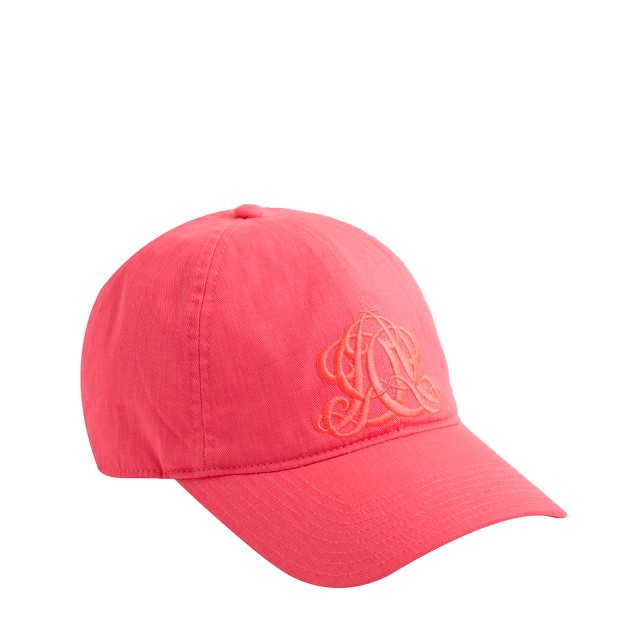 Embroidered emblem baseball cap in tonal