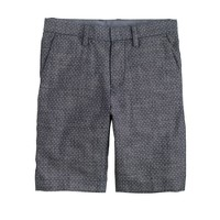 Boys' Bowery short in pindot