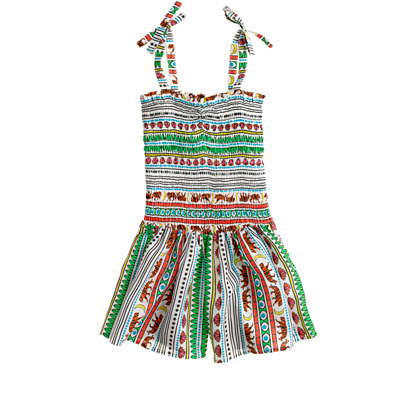 Girls' Mara Hoffman® tiger romper