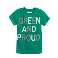 Boys' glow-in-the-dark green and proud tee