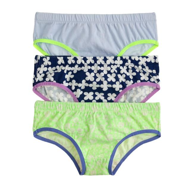 Girls' underwear three-pack
