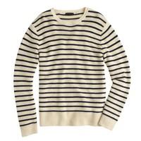 Linen-cotton sweater in nautical stripe