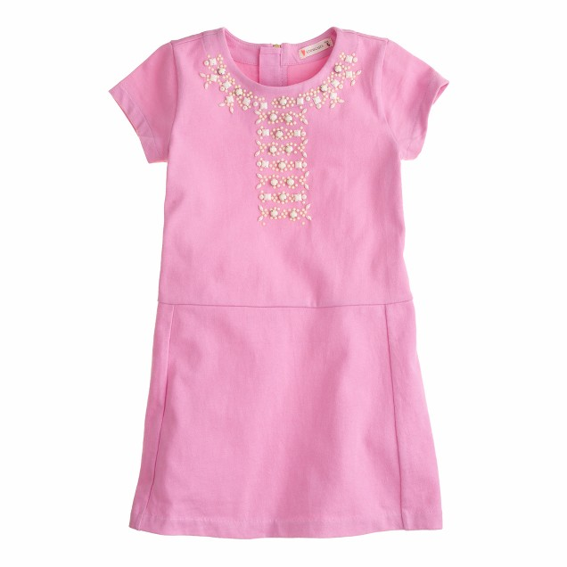 Girls' embellished T-shirt dress
