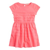 Girls' pleated T-shirt dress