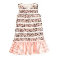 Girls' tankdress in floral stripe