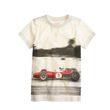 Boys' speeding racecar tee