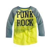 Boys' punk rock baseball tee
