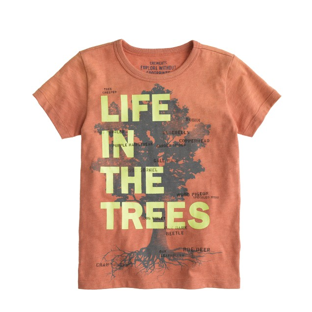 Boys' life in the trees tee