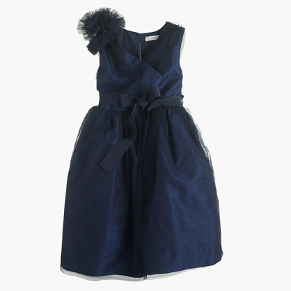 Girls' corsage dress in tulle