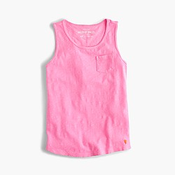 Girls' pocket tank top