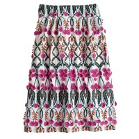 Collection blooming floral circle skirt