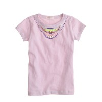 Girls' multicolor necklace T-shirt