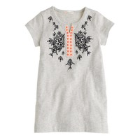 Girls' embroidered tunic with neon beads