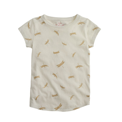 Girls' metallic dragonflies T-shirt