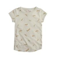 Girls' metallic dragonflies T-shirt