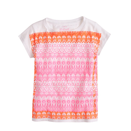 Girls' floral scarf T-shirt