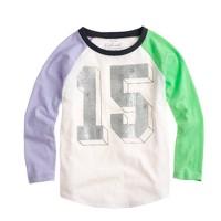 Girls' colorblock 15 baseball T-shirt