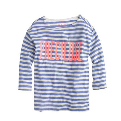 Girls' stripe précieuse T-shirt