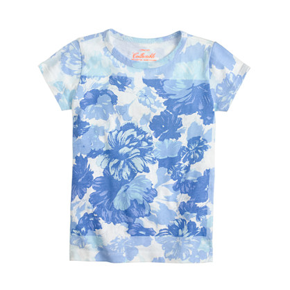 Girls' watercolor floral T-shirt