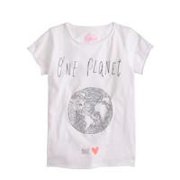 Girls' sequin one planet T-shirt