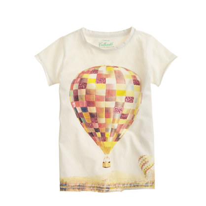 Girls' glitter hot-air balloon T-shirt