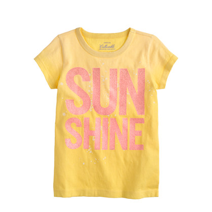 Girls' sunshine T-shirt