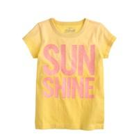 Girls' sunshine T-shirt