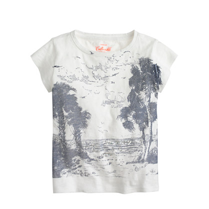 Girls' beach scene T-shirt