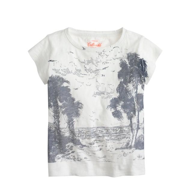 Girls' beach scene T-shirt