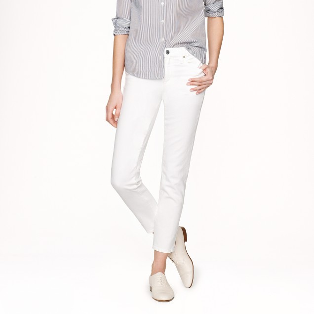 Stretch Reid crop jean in chalk