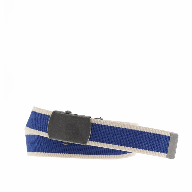 Boys' elastic belt in stripe