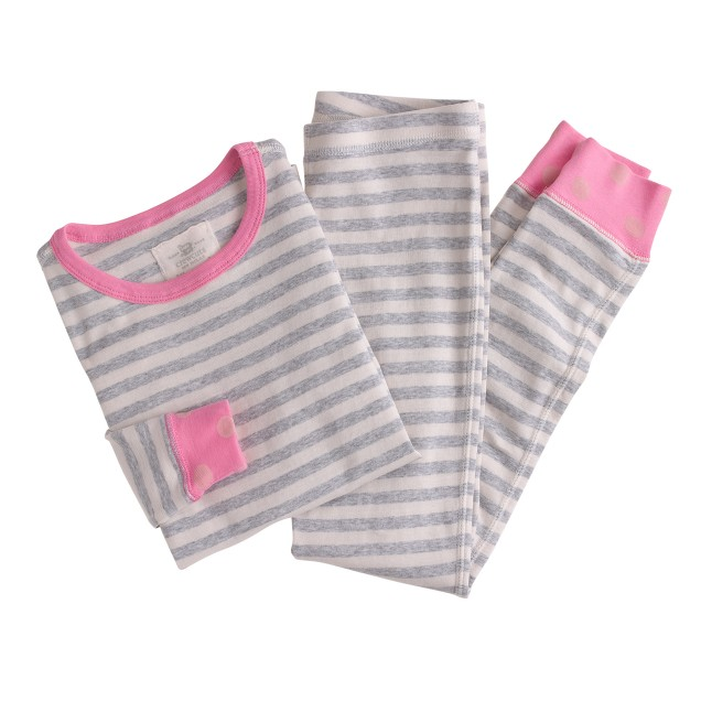 Girls' pajama set in stripe dot