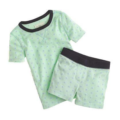 Girls' short-sleeve pajama set in tiny stars