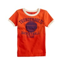 Boys' thunderbolt basketball tee