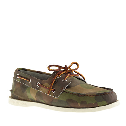 Men's Sperry Top-Sider® for J.Crew Authentic Original 2-eye boat shoes in camo
