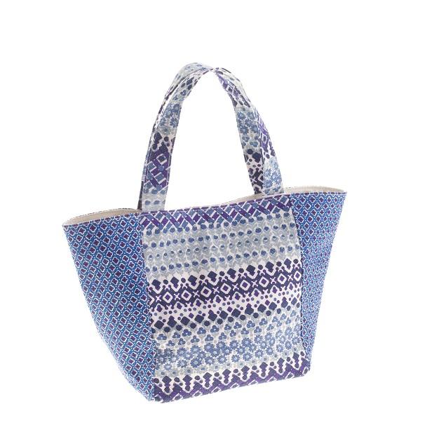 Girls' printed canvas tote bag