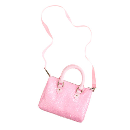 Girls' glitter bowler bag