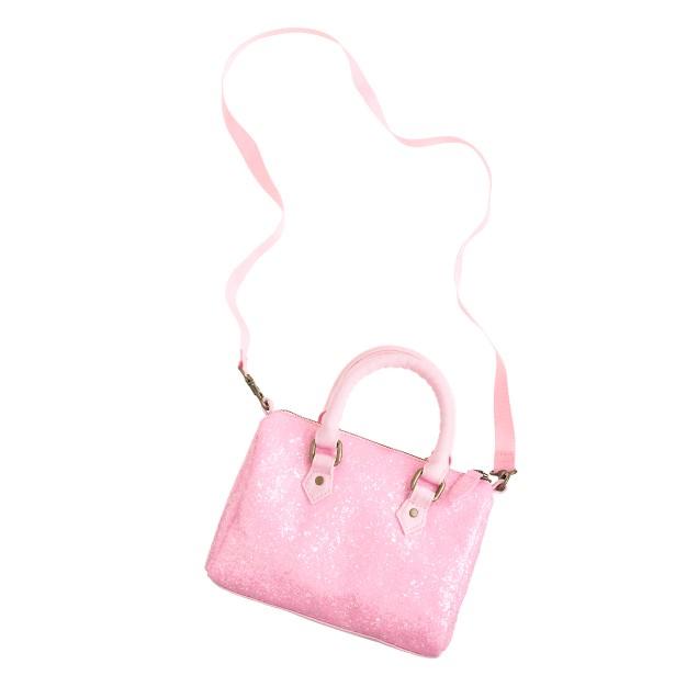 Girls' glitter bowler bag
