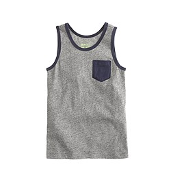 Boys' pocket tank top in colorblock