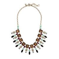 geo fan necklace