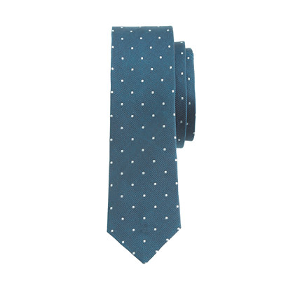 Boys' silk tie in pindot